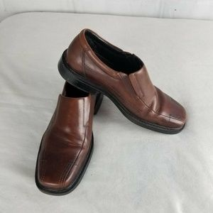 Bostonian Mens Capi Loafers Brown Leather Slip On